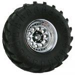 Chrome Revolver Rock Crawler Wheels - Wide Wheelbase