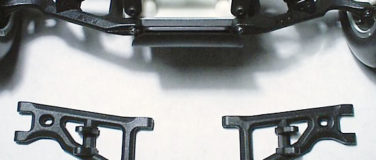 Front Arms for the Assoc. GT, RC10T, & T2 – Black