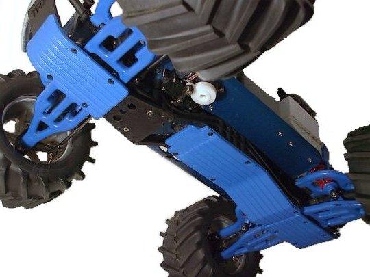 T/E-Maxx Three Pc. Skid / Wear Plate Set (Blue)