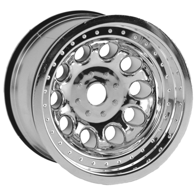 Chrome Revolver Monster Truck Wheels, StableMaxx Offset - 17mm