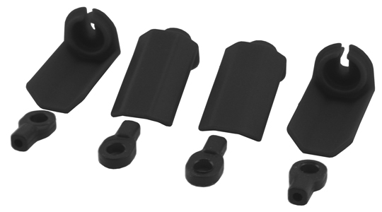 Black Shock Shaft Guards for Traxxas 1/10th Scale Shocks