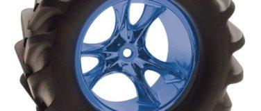 Monster Clawz Standard Offset Blue Chrome Wheels