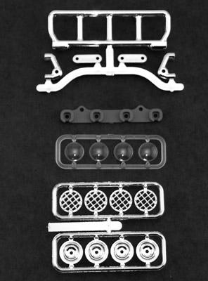 Narrow Roof Mounted Light Bar Set - Chrome