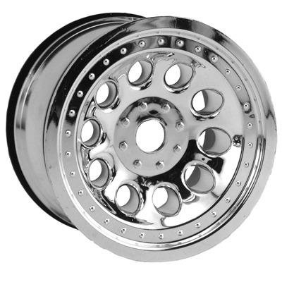 Chrome Revolver Monster Truck Wheels, Std. Offset - 17mm