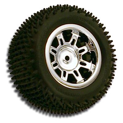 Spider 8 Spoke Losi Mini-T Rear Wheel - Chrome