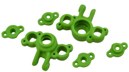 Green Axle Carriers for the Traxxas 1/16th Scale Mini E-Revo & Mini Slash