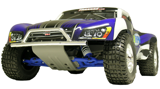 Front Bumper & Skid Plate for the Traxxas Slash 2wd & Nitro Slash - Chrome