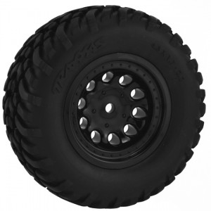 Black Revolver Short Course Wheels - Slash 2wd Rr.*