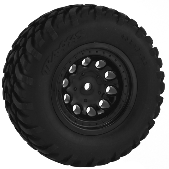 Black Revolver Short Course Wheels - Slash 2wd Rr.*