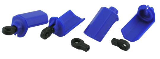 Blue Shock Shaft Guards for Traxxas 1/10th Scale Shocks