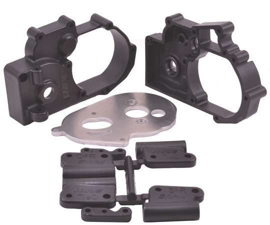 Black Gearbox Housing and Rear Mounts for Traxxas 2wd Vehicles