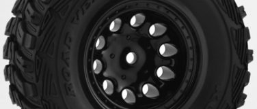 Black Revolver Short Course Wheels – Slash 2wd Ft.