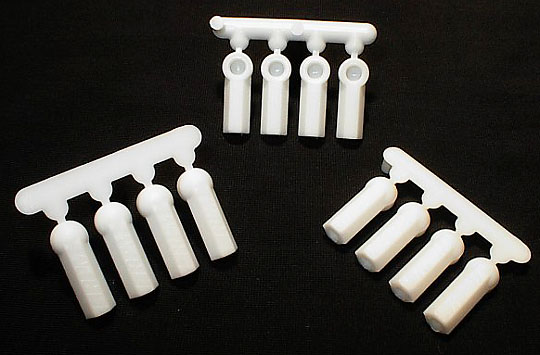 Heavy Duty Rod Ends (12) 4-40 - Dyeable White