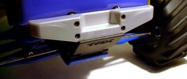 T/E-Maxx Rear Step Bumper – Silver