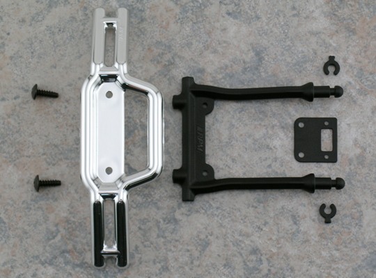 Chrome Front Bumper & Bumper Mount for the HPI E-Savage