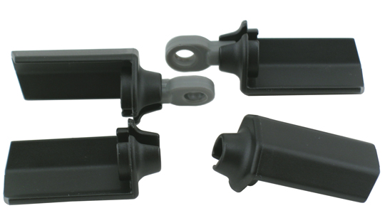 Black Shock Shaft Guards for Associated 1/10th Scale Shocks