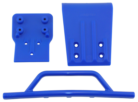 Blue Front Bumper & Skid Plate for the Traxxas Slash 4x4
