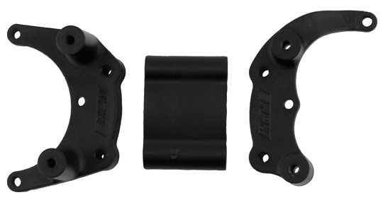 Black Traxxas Mount for a Rear Bumper or Wheelie Bar