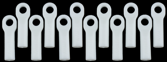 Traxxas Long Rod Ends - Dyeable White