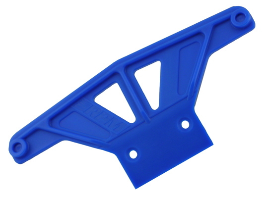 Wide Front Bumper for Traxxas Rustler & Stampede - Blue