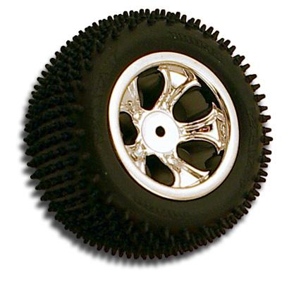 Bully 5 Spoke Losi Mini-T Rear Wheel - Chrome