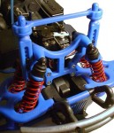 T/E-Maxx Super Tough Body Mounts & Shock Tower - Blue