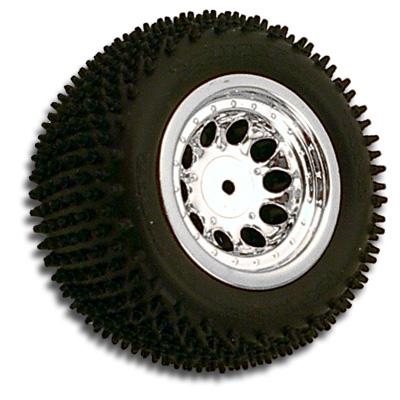 Revolver 10 Hole Losi Mini-T Rear Wheel - Chrome