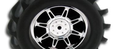 Monster Spider Standard Offset Chrome Monster Truck Wheels