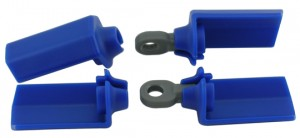 Blue Shock Shaft Guards for Associated 1/10th Scale Shocks