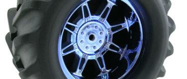 Monster Spider StableMaxx Offset Blue Chrome Wheels