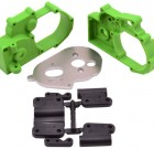 Green Gearbox Housing and Rear Mounts for Traxxas 2wd Vehicles