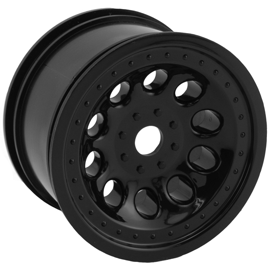 Black Revolver Monster Truck Wheels, Std. Offset - 17mm