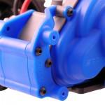 Blue Traxxas Mount for a Rear Bumper or Wheelie Bar