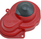 Red Sealed Gear Cover for the Traxxas e-Rustler, e-Stampede, Bandit & Slash 2wd