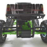 70832 - Black Stampede 2wd Rear Bumper - Rear View