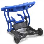 70835 - Blue Stampede 2wd Rear Bumper - with Accessories