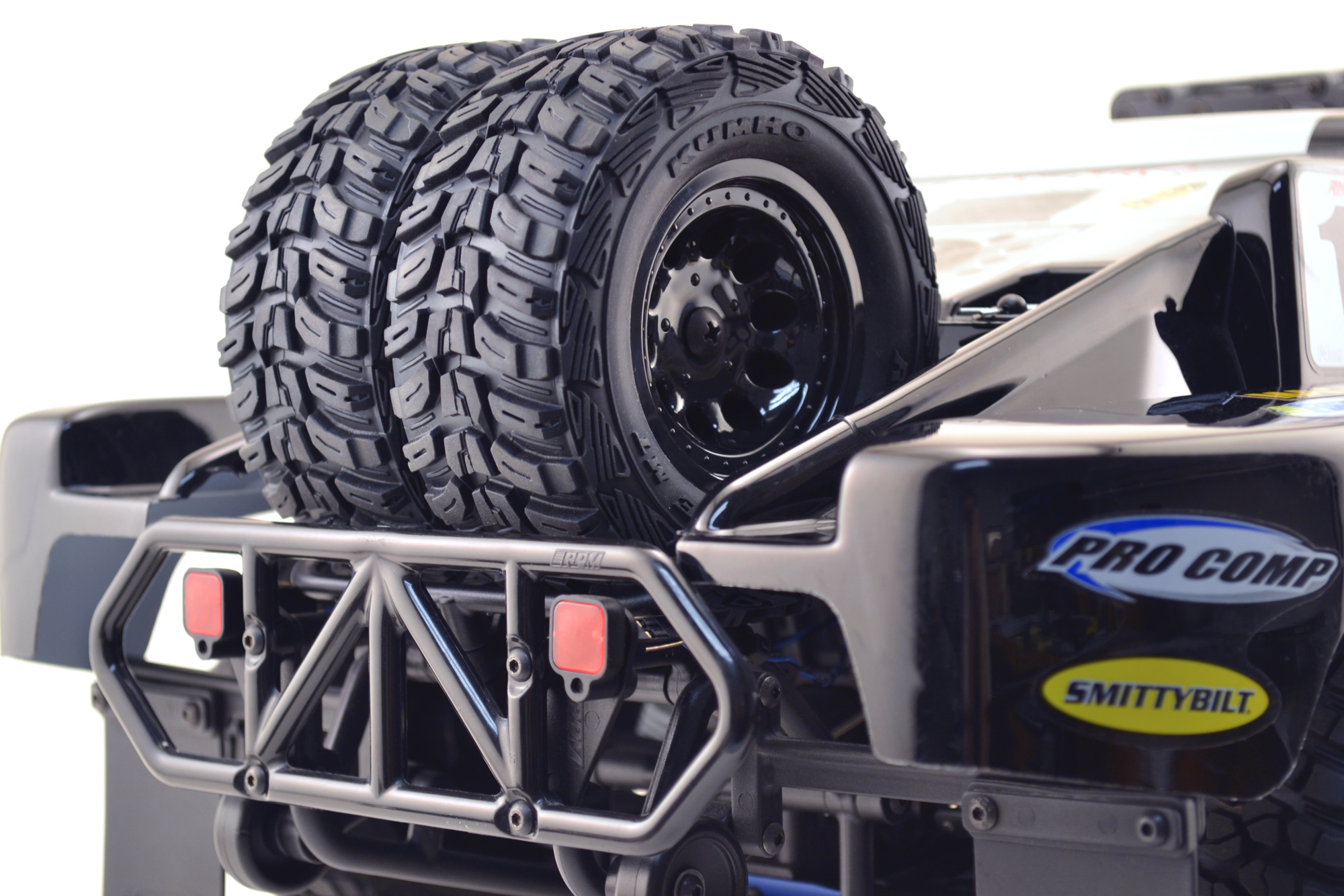 Dual Tire Spare Tire Carrier for the Traxxas Slash 2wd